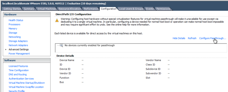 How to configure ESXi 5 0 for USB 3 0 passthrough to a Windows VM