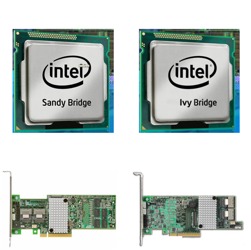 Sandybridge Z68 versus Ivy Bridge Z77 motherboards, LSI 9265-8i