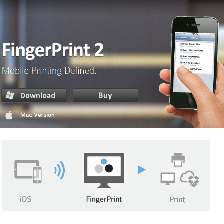 FingerPrint: easily print from your iPhone or iPad to