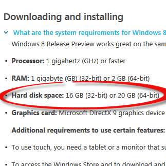 Your SSD drive will need >27GB free space on C: to upgrade