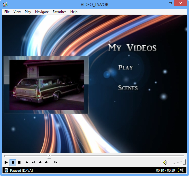 playing vob files on windows 8
