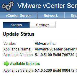 How to update your vCenter Server Appliance, going from 5 1, to 5 1