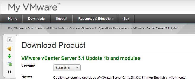 VMware vCenter Server 5 1 Update 1b and modules