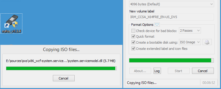 Rufus quickly creates a UEFI bootable USB 3 0 flash drive