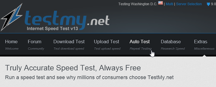Use testmy net to track intermittent internet issues in your