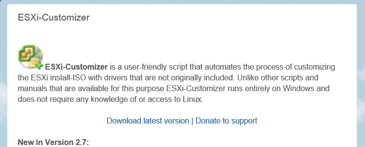 Use ESXi-Customizer GUI to inject multiple driver VIBs into