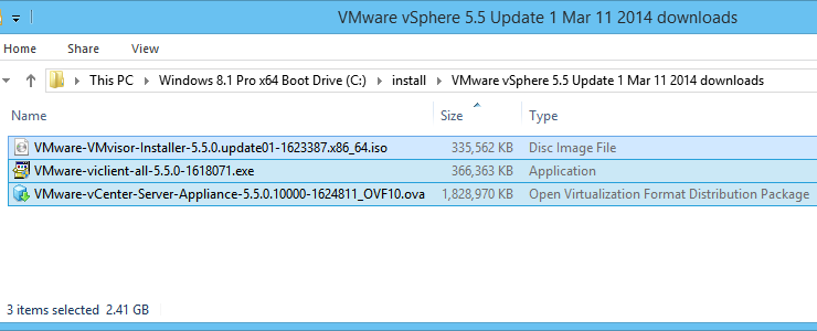 Download ESXi 5 5 Update 1 and the other vSphere pieces to