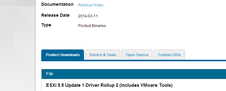 VMware ESXi 5 5 Update 1 Driver Rollup 2 Released Apr 24
