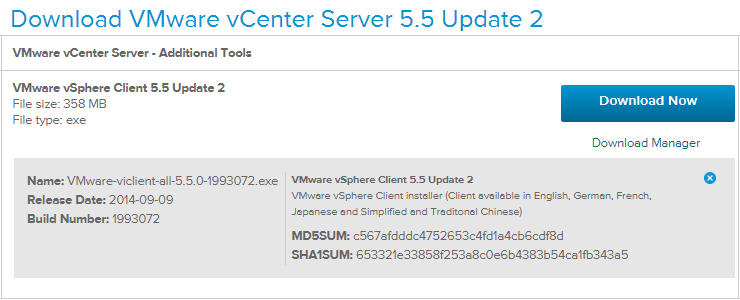 A simple upgrade to VMware vSphere Client 5 5 U2 regains