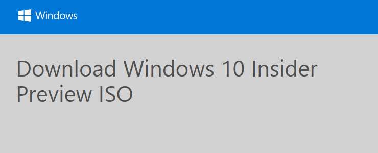How to download Windows 10 Technical Preview ISO Build 10162 quickly