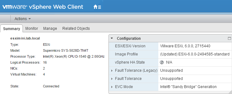 Easier way - Enabling EVC on a cluster when vCenter Server is