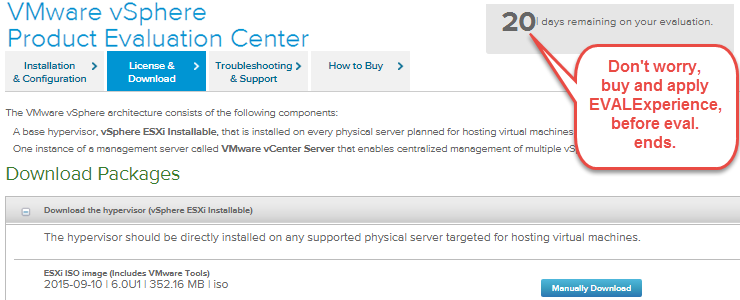 Download/Install VMware ESXi 6 0 U1a and vSphere 6 0 Update 1
