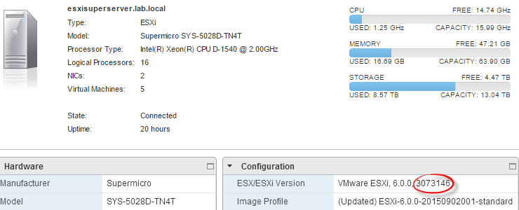 Upgrade your VMware ESXi 6 0 to Update 1a the easy way | TinkerTry