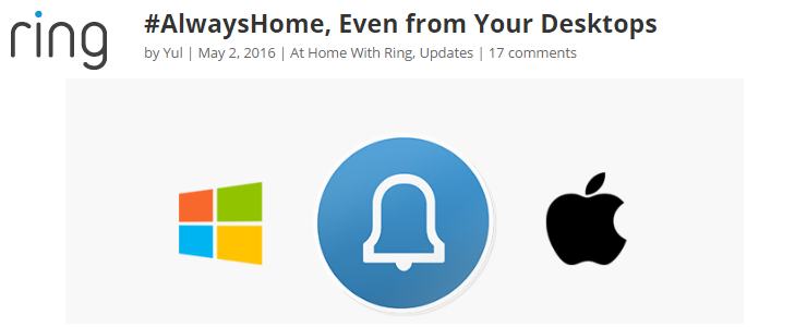 Ring Video Doorbell users also have PC and Mac apps, faster