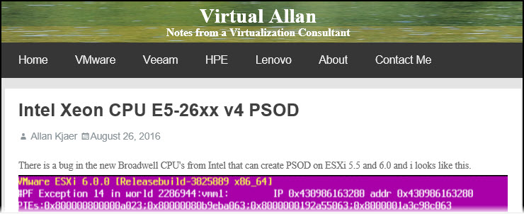 Bug in some Intel Broadwell CPUs (Xeon D-1500 and Xeon E5/E7