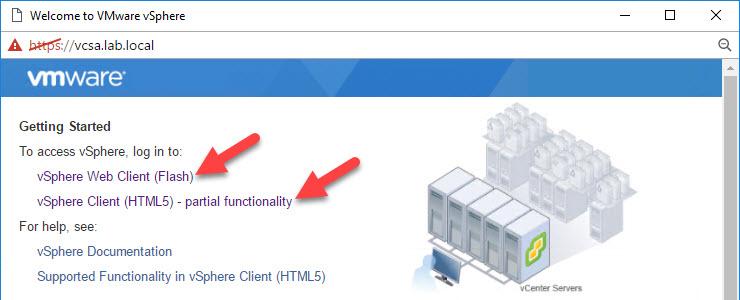 In VMware vSphere 6 5, missing functions in speedy HTML5 Web