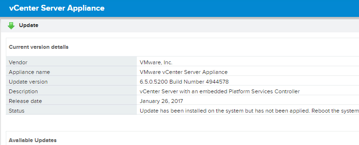 How to easily update your VMware vCenter Server Appliance from VCSA