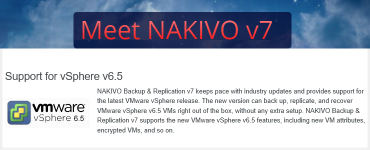 NAKIVO Backup & Replication v7 released with full VMware