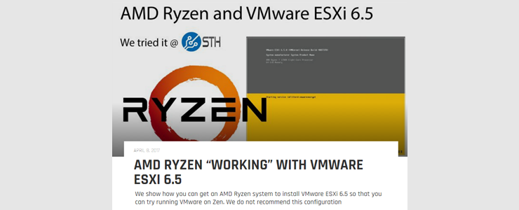 AMD Ryzen's VMware ESXi 6 5 PSOD workaround is to slow system by 30