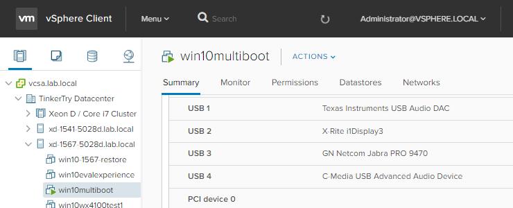Back-level VMware ESXi 6 5 vmkusb to 6 0 to restore Windows