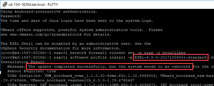 How to easily update your VMware Hypervisor from 6 5 x to