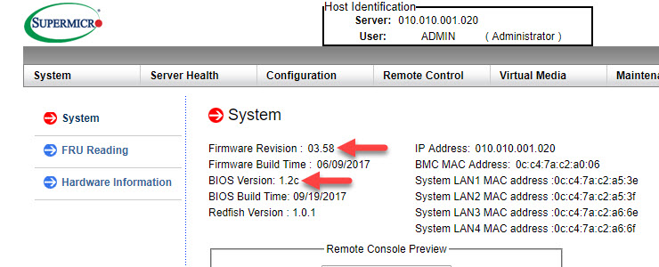 Supermicro Xeon D SuperServer BIOS 1 2c / IPMI 3 58 released