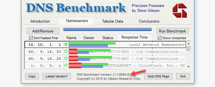 How to use GRC's new DNS Benchmark, noting that malware protection