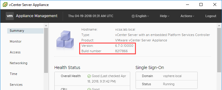 How to easily update your VMware vCenter Server Appliance