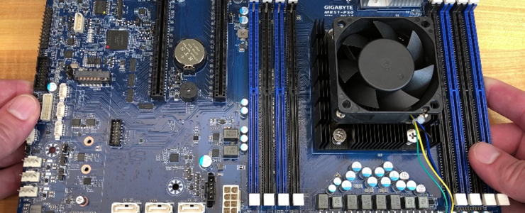 Hands-on GIGABYTE Server MB51-PS0 motherboard featuring 4