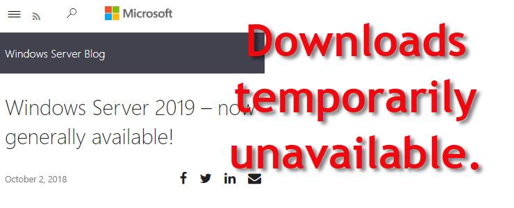 Windows 10 October 2018 Update and Window Server 2019